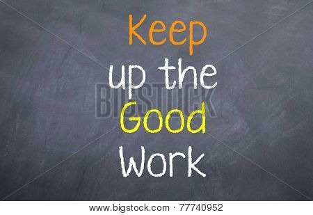 kepp up the good work