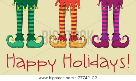 The legs and shoes of Santa's elves. EPS10 vector format