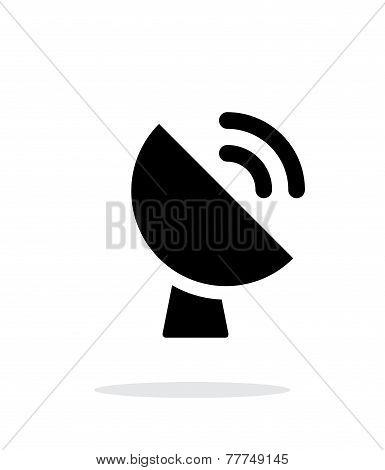 Radio radar transmitting signal icon on white background.