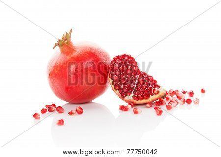 Fresh Ripe Pomegranate.