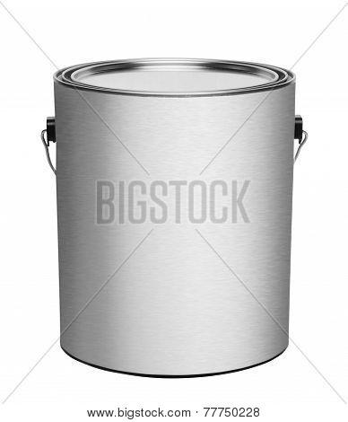Metal gallon paint can, isolated