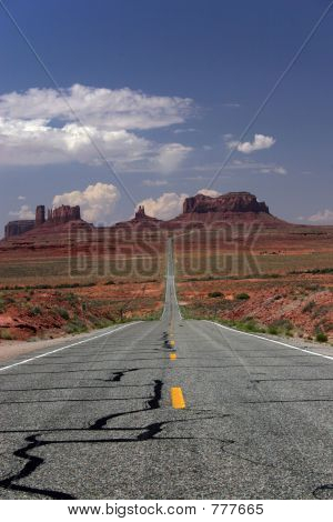 The road to Monument valley