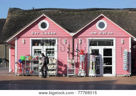 Small Shop In The Harbour Of List On Sylt