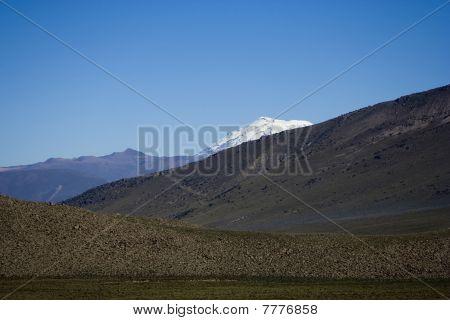 Snow Peak Of Ampato Volcano In Peru