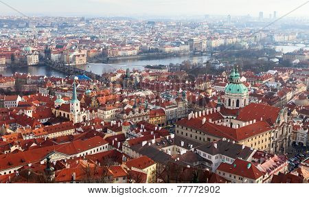 View Of Prague From The Prague Castle On A Day