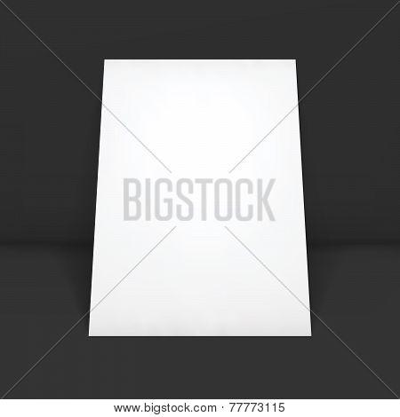 Magazine, booklet, postcard, flyer, business card or brochure mockup template.