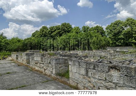 Fragment of Ancient Roman town peristyle complex Abritus