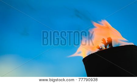 Movement Of Fire Flame