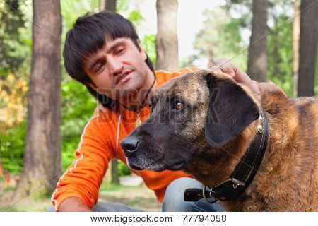 man and his dog - man's best friend