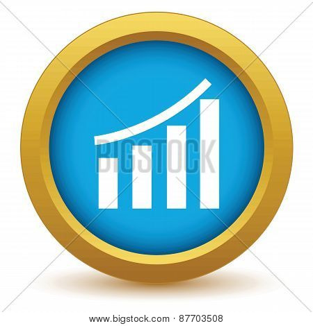 Gold growing graph icon