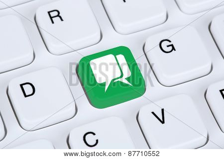 Social Media Or Chatting On The Internet Computer Keyboard