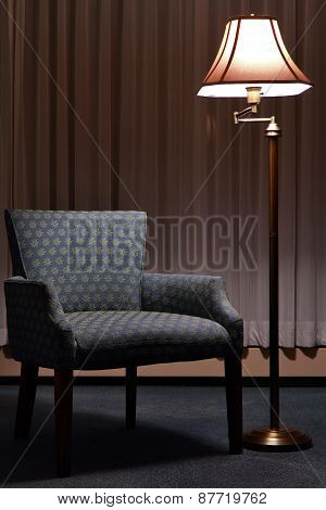Austere Armchair And Floor Lamp