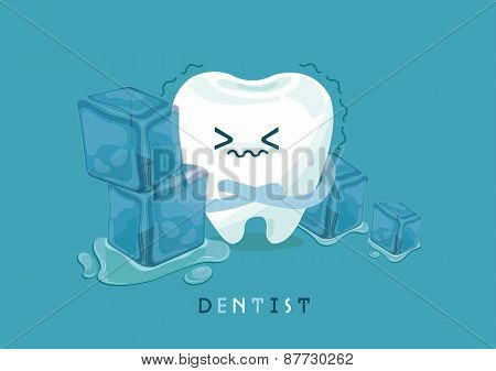 Tooth is so sensitive to coldness