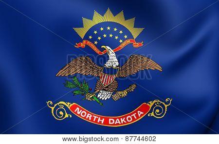Flag Of North Dakota, Usa.