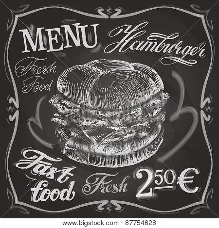 hamburger, burger vector logo design template. fast food or menu board icon.