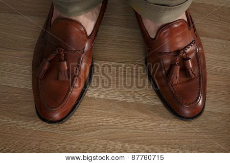 Sockless Legs In Pants And Loafers