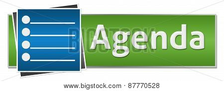 Agenda concept image with text written over business background. poster