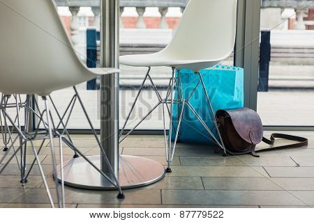 Abandoned Bags In A Cafe