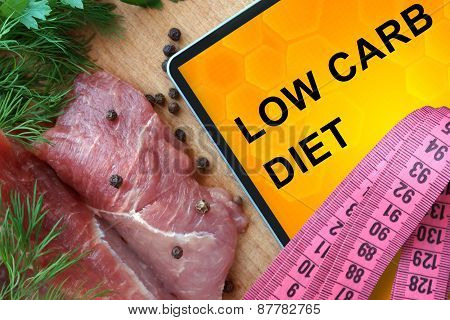 Tablet with low carb diet