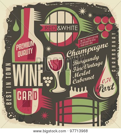 Wine list document template