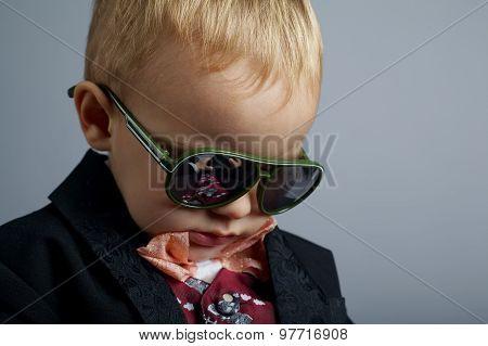 little gentleman with sunglasses