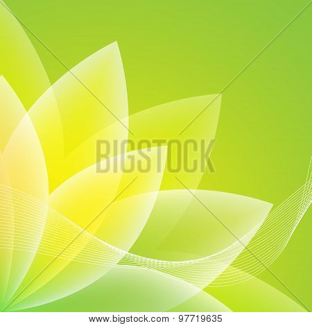 Abstract Green Flower Background. Vector Illustration
