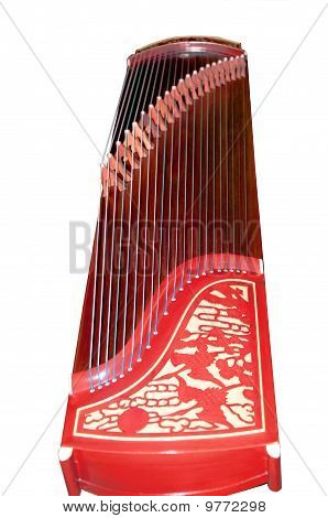 Guzheng isolated