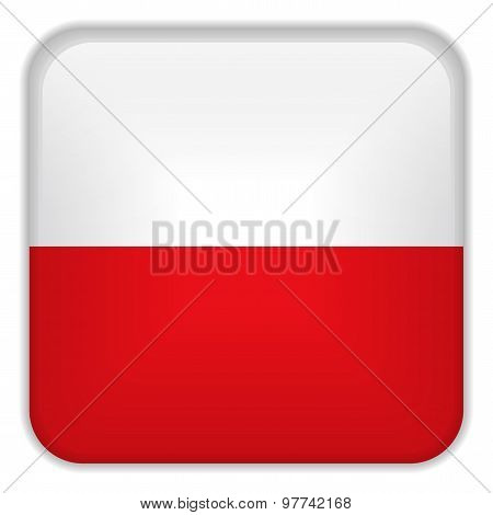 Poland Flag Smartphone Application Square Buttons