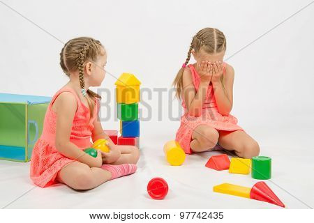 Girl Hurt Another Girl Playing With Toys
