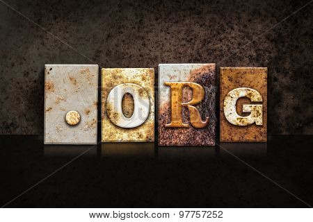 Dot Org Letterpress Concept On Dark Background
