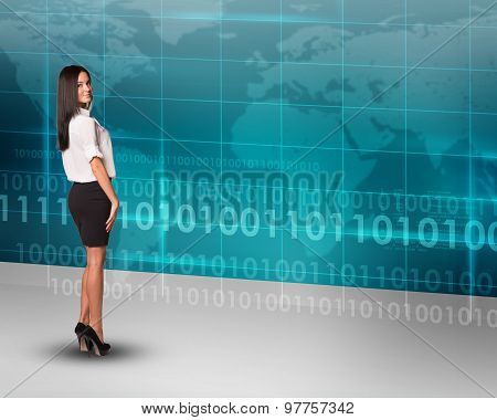 Businesslady looking at camera