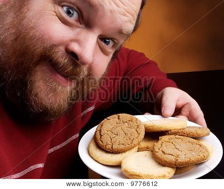 Man With Cookie