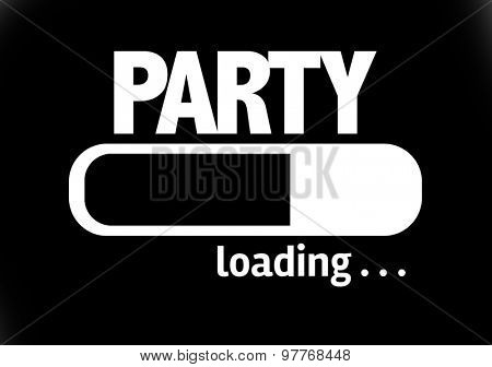 Progress Bar Loading with the text: Party