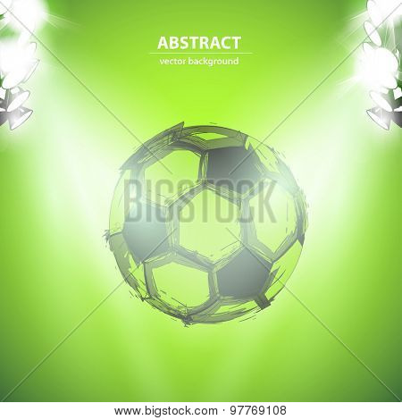 Sketch Soccer ball and lightstage easy editable
