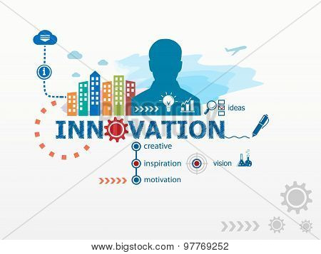 Innovation  Concept And Business Man.