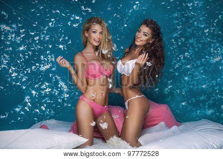Two Girls Having Fun.