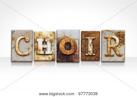 Choir Letterpress Concept Isolated On White