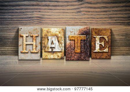 Hate Concept Letterpress Theme