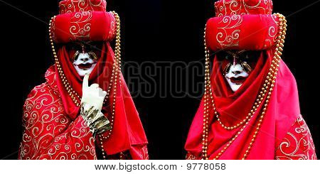 Two masked women