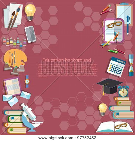 Education Background: Back To School University College Institute Learning School Subjects