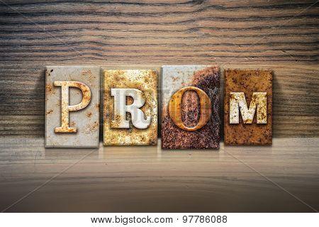 Prom Concept Letterpress Theme