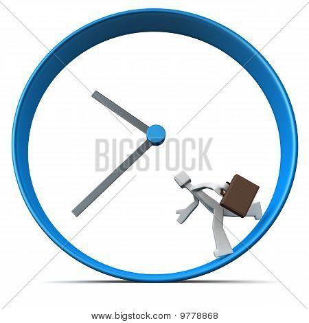 Business Men Rush Hour Concept