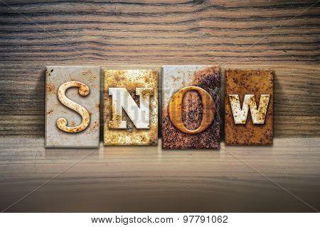 Snow Concept Letterpress Theme