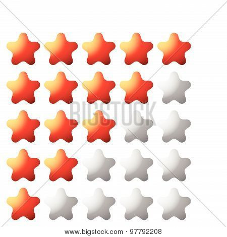 Star Rating Element For Valuation, Quality, Rating Or Customer Satisfaction, Feedback Concepts. Edit