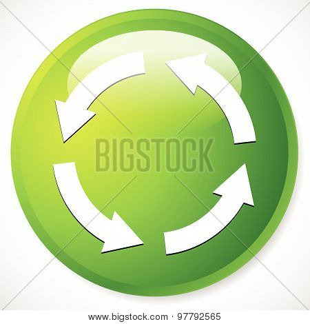 Circular Arrows For Recycle, Repetition, Rotation Or Cycle, Synchronization, Forward, Backward Conce