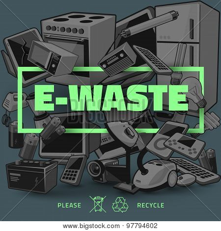 Dark E-waste With Green Title