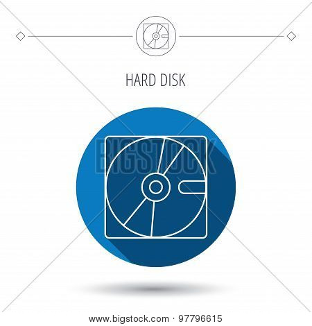 Harddisk icon. Hard drive storage sign.
