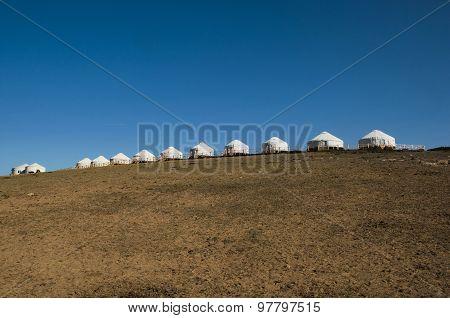 The grasslands of Mongolia