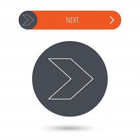 Next arrow icon. Forward sign.