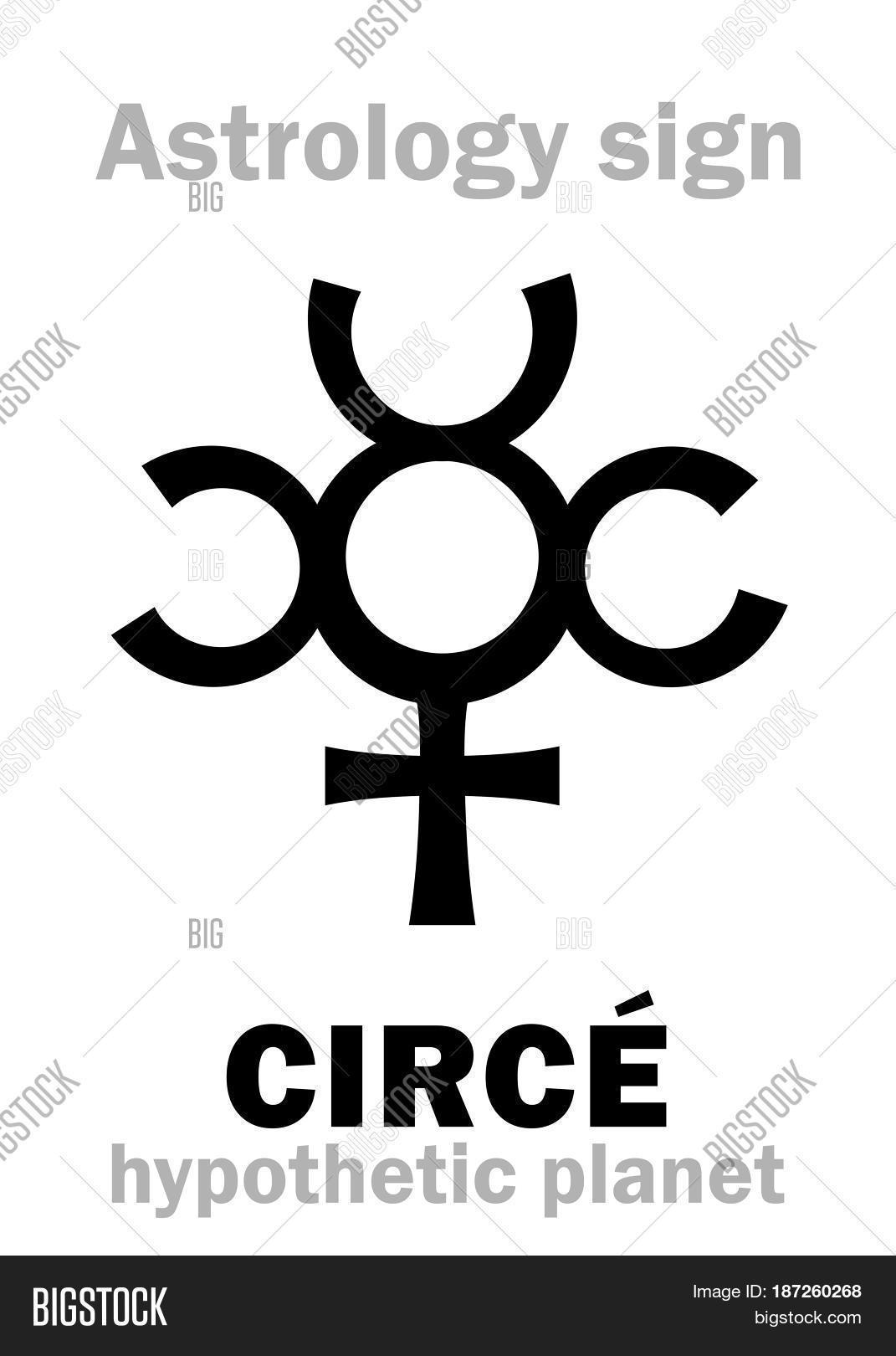 Astrology alphabet circe vector photo bigstock astrology alphabet circe hypothetic little planet between jupiter and saturn hieroglyphics buycottarizona Image collections